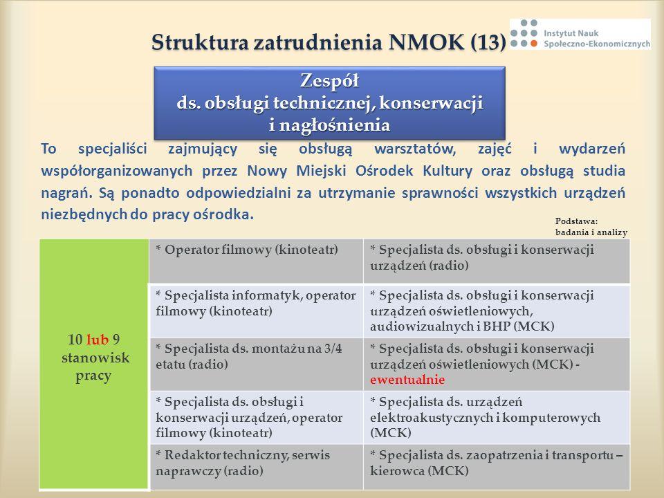 Struktura zatrudnienia NMOK (13)