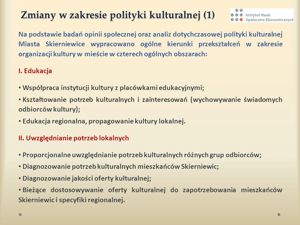Zmiany w zakresie polityki kulturalnej (1)