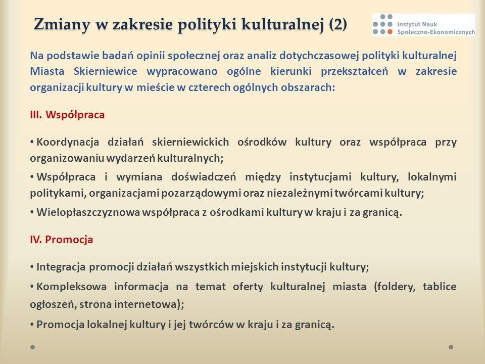 Zmiany w zakresie polityki kulturalnej (2)