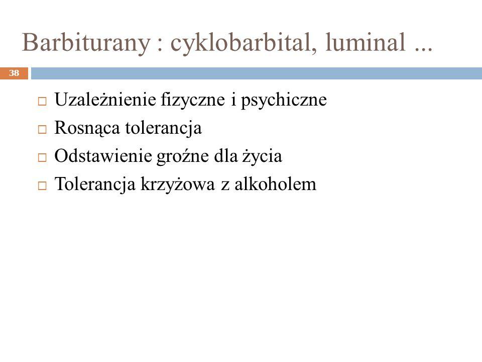 Barbiturany : cyklobarbital, luminal ...