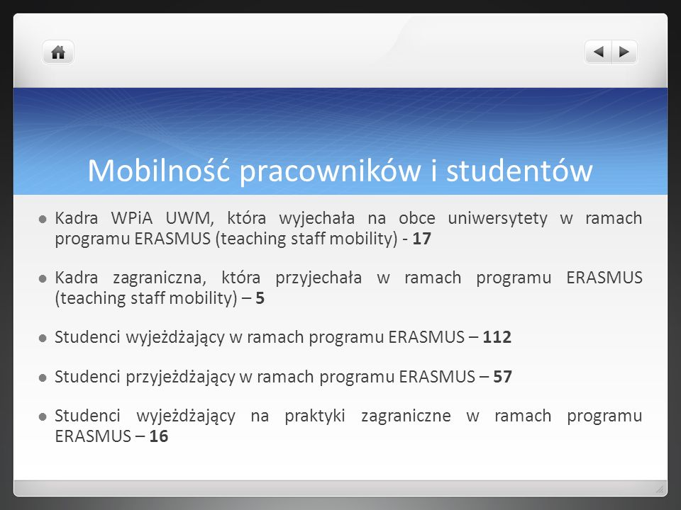 Mobilność pracowników i studentów