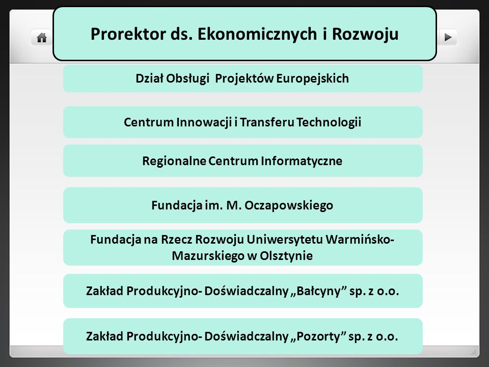 Prorektor ds. Ekonomicznych i Rozwoju