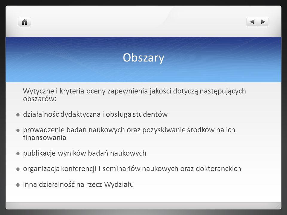 Obszary działalność dydaktyczna i obsługa studentów