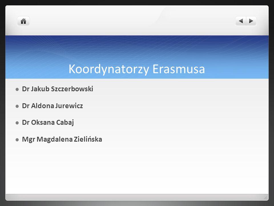 Koordynatorzy Erasmusa
