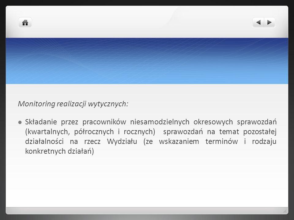 Monitoring realizacji wytycznych: