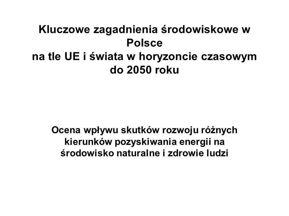 Kluczowe zagadnienia środowiskowe w Polsce na tle UE i świata w horyzoncie czasowym do 2050 roku