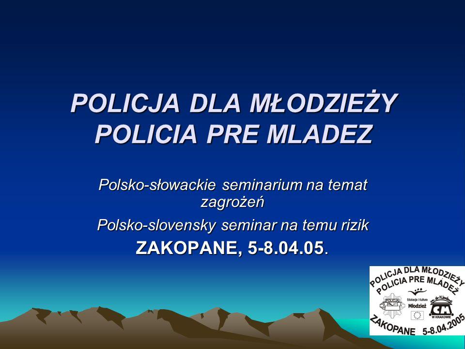 POLICJA DLA MŁODZIEŻY POLICIA PRE MLADEZ