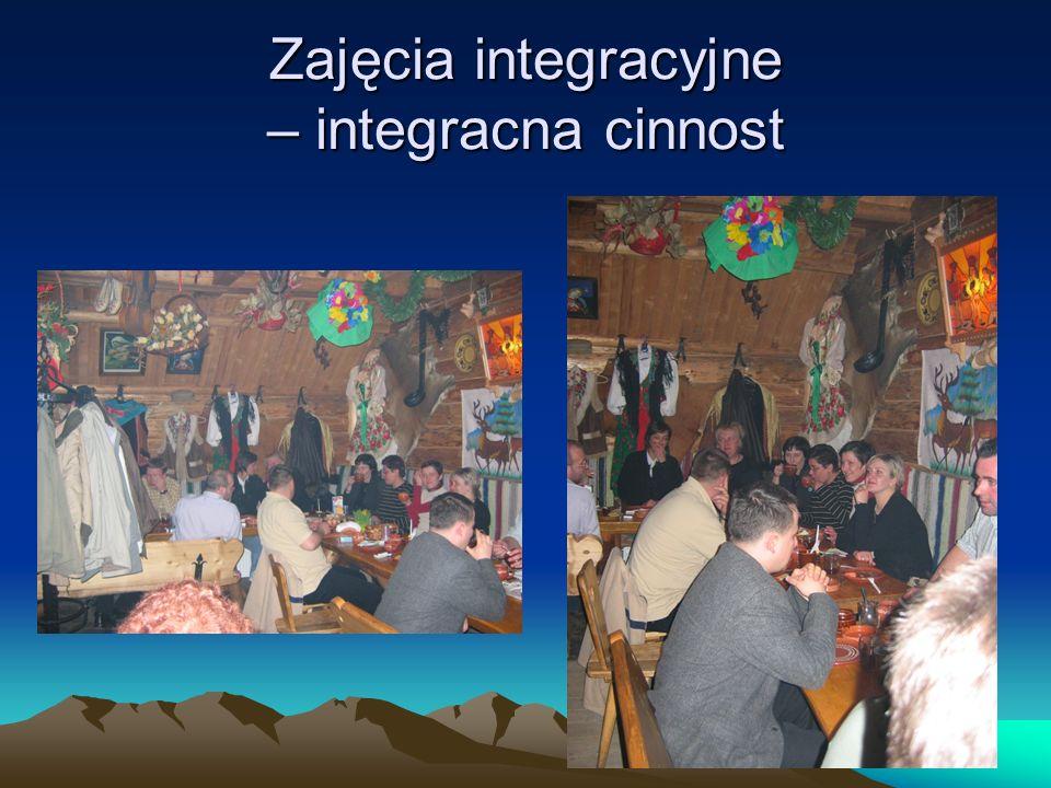 Zajęcia integracyjne – integracna cinnost