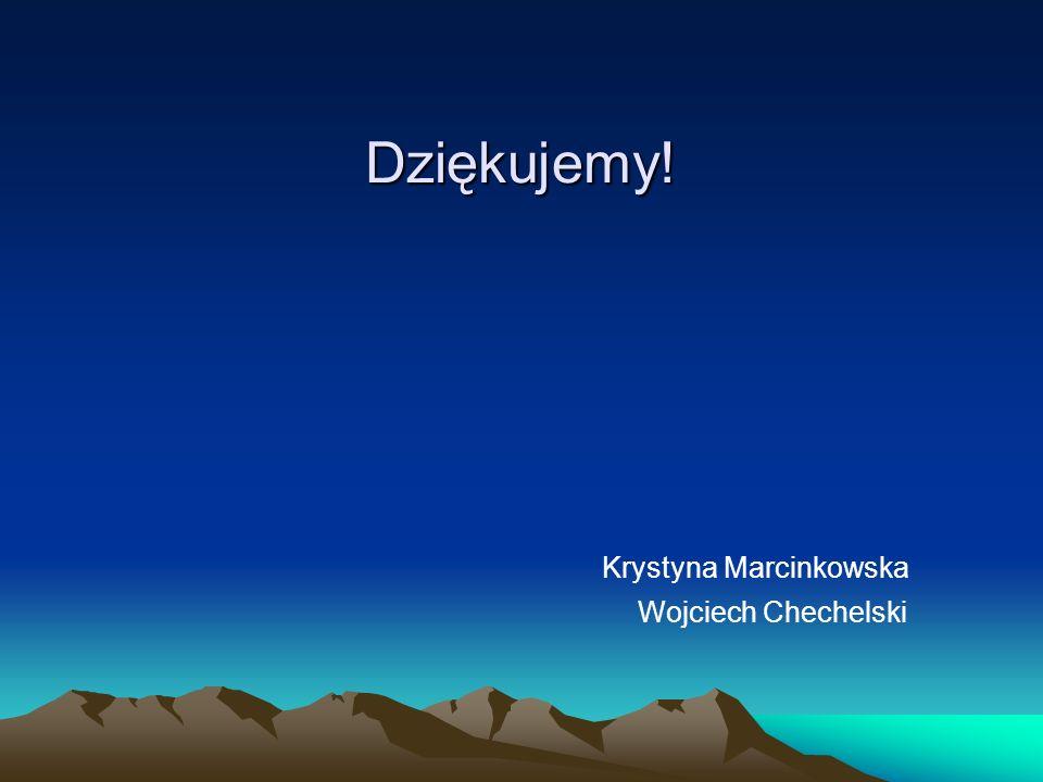 Dziękujemy! Krystyna Marcinkowska Wojciech Chechelski
