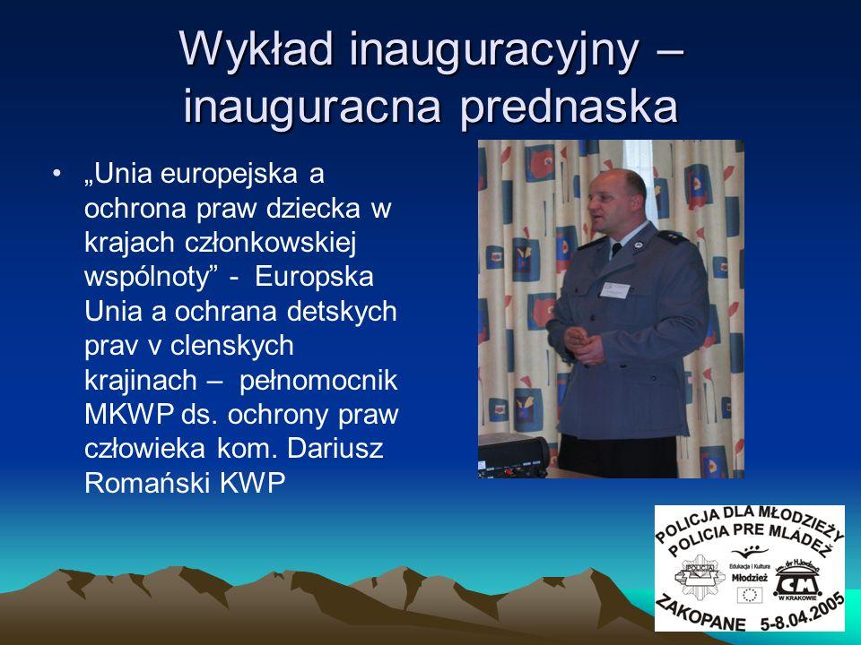 Wykład inauguracyjny – inauguracna prednaska
