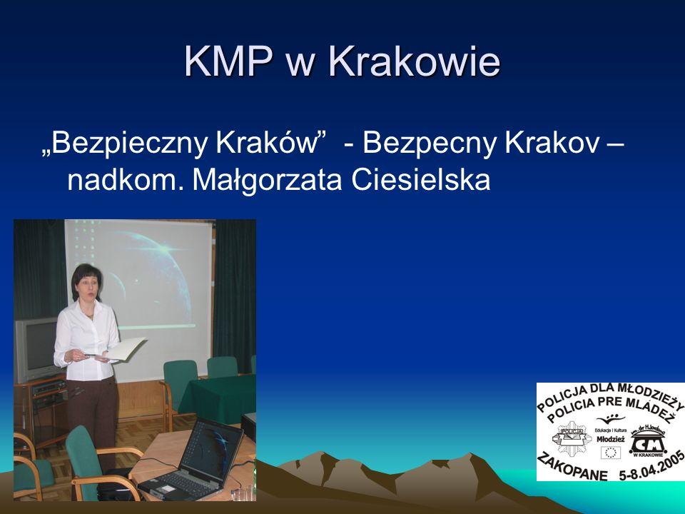 """KMP w Krakowie """"Bezpieczny Kraków - Bezpecny Krakov – nadkom. Małgorzata Ciesielska"""