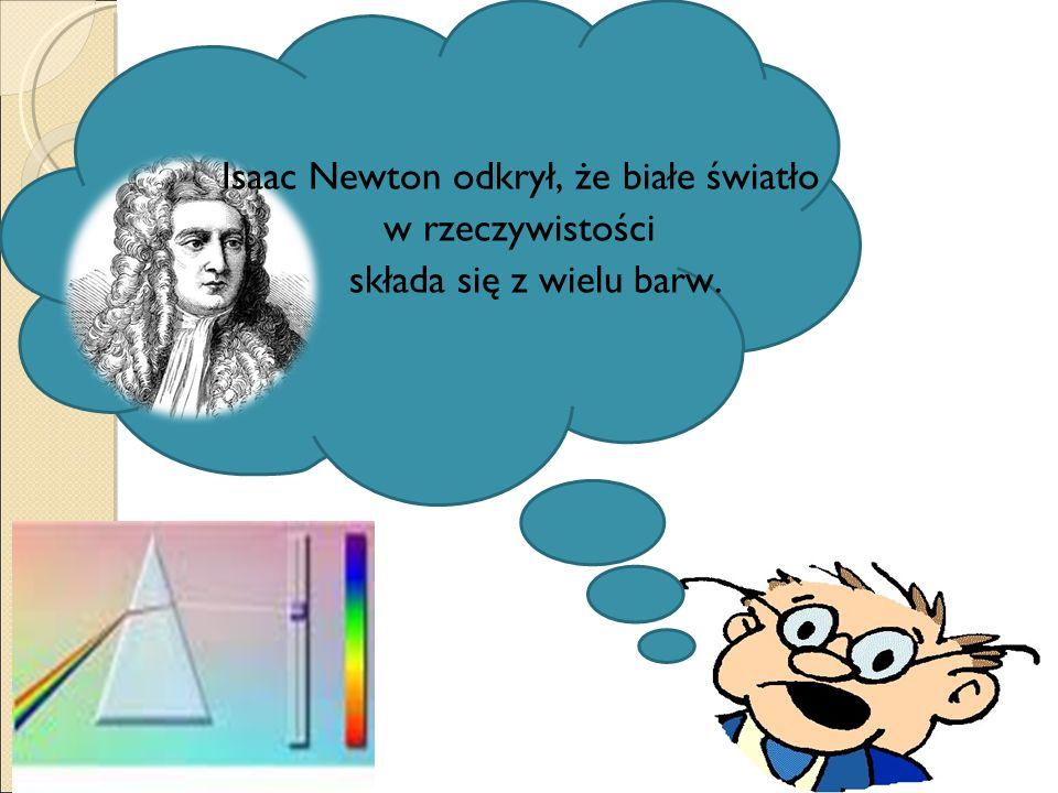 Isaac Newton odkrył, że białe światło