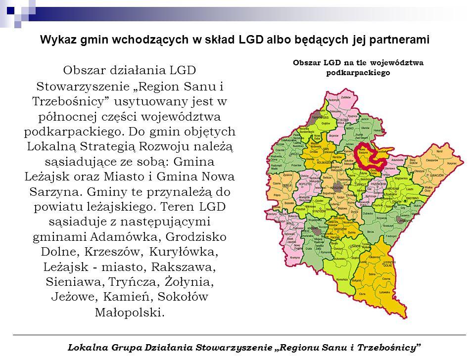 """Lokalna Grupa Działania Stowarzyszenie """"Regionu Sanu i Trzebośnicy"""