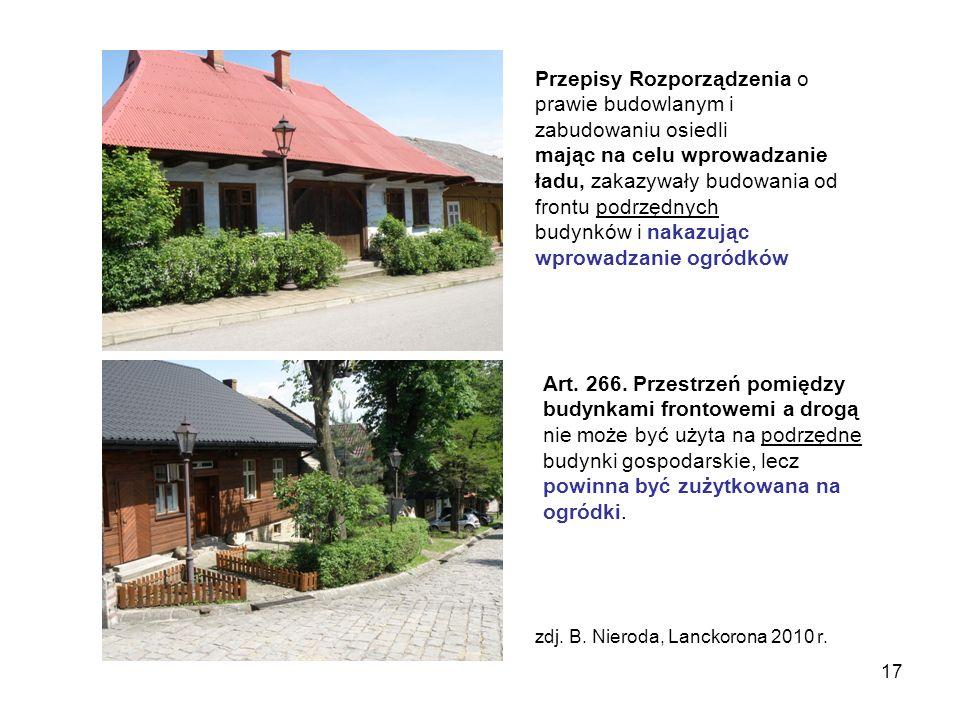 Przepisy Rozporządzenia o prawie budowlanym i zabudowaniu osiedli