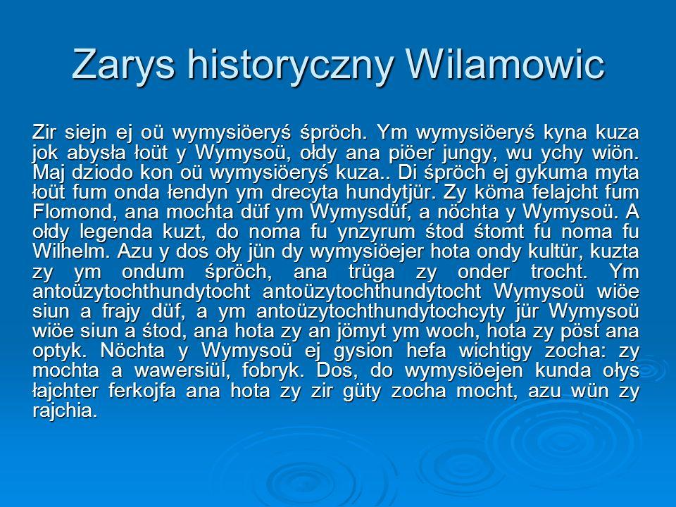 Zarys historyczny Wilamowic