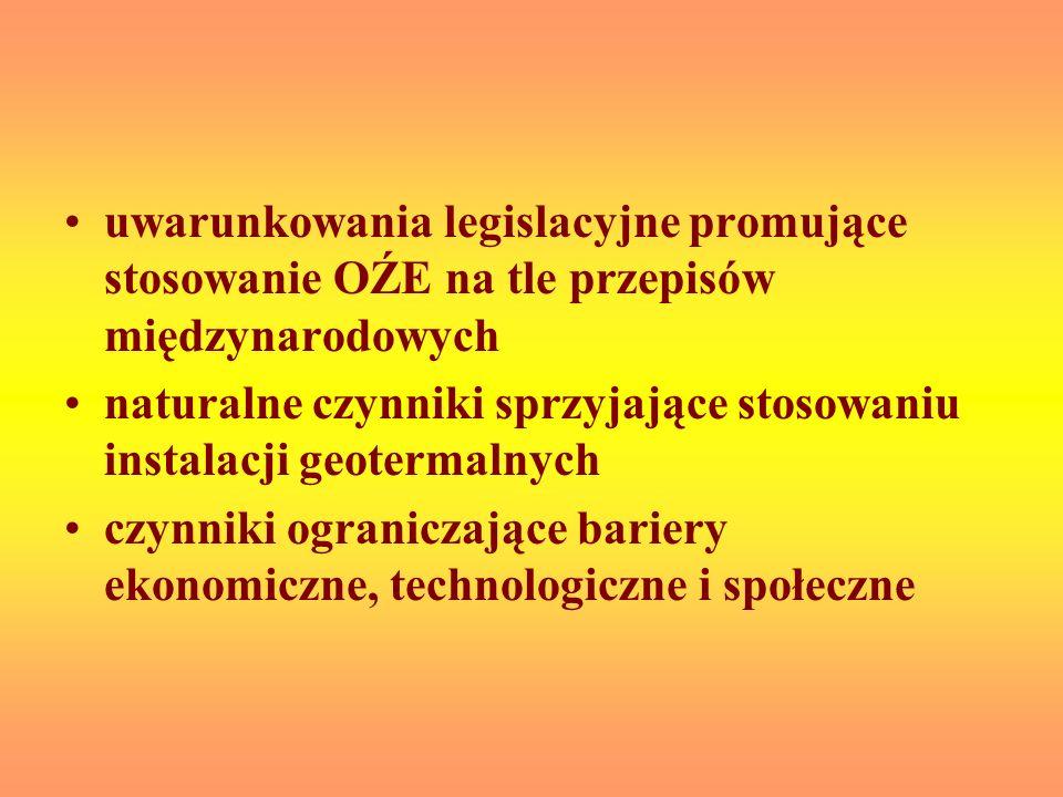 uwarunkowania legislacyjne promujące stosowanie OŹE na tle przepisów międzynarodowych