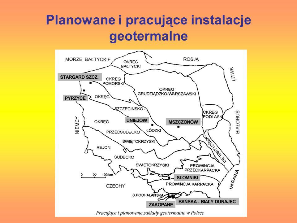 Planowane i pracujące instalacje geotermalne