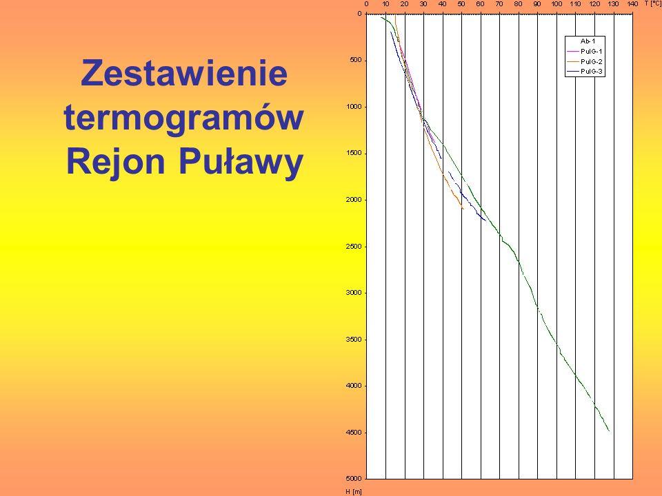 Zestawienie termogramów Rejon Puławy