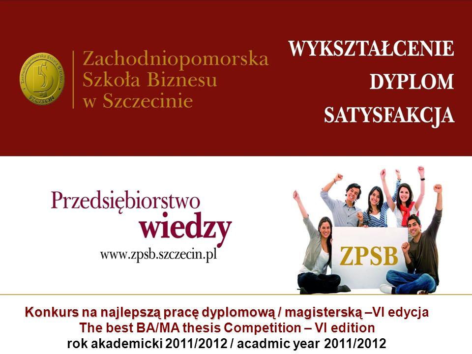 rok akademicki 2011/2012 / acadmic year 2011/2012