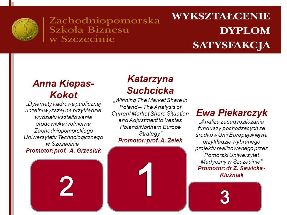 Promotor: prof. A. Grzesiuk Promotor: dr Z. Sawicka - Kluźniak