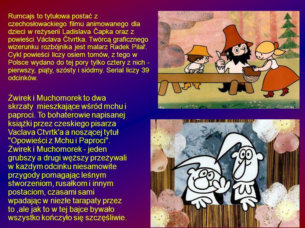 Rumcajs to tytułowa postać z czechosłowackiego filmu animowanego dla dzieci w reżyserii Ladislava Čapka oraz z powieści Václava Čtvrtka. Twórcą graficznego wizerunku rozbójnika jest malarz Radek Pilař. Cykl powieści liczy osiem tomów, z tego w Polsce wydano do tej pory tylko cztery z nich - pierwszy, piąty, szósty i siódmy. Serial liczy 39 odcinków.