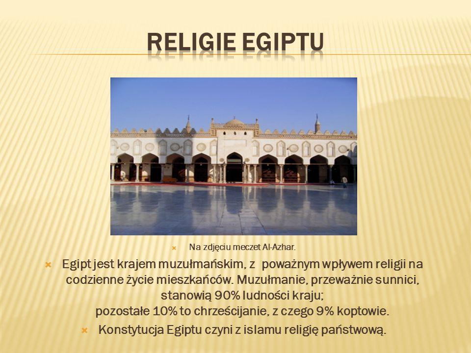 Religie egiptu Na zdjęciu meczet Al-Azhar.