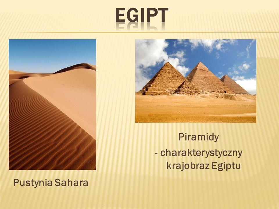 Piramidy - charakterystyczny krajobraz Egiptu