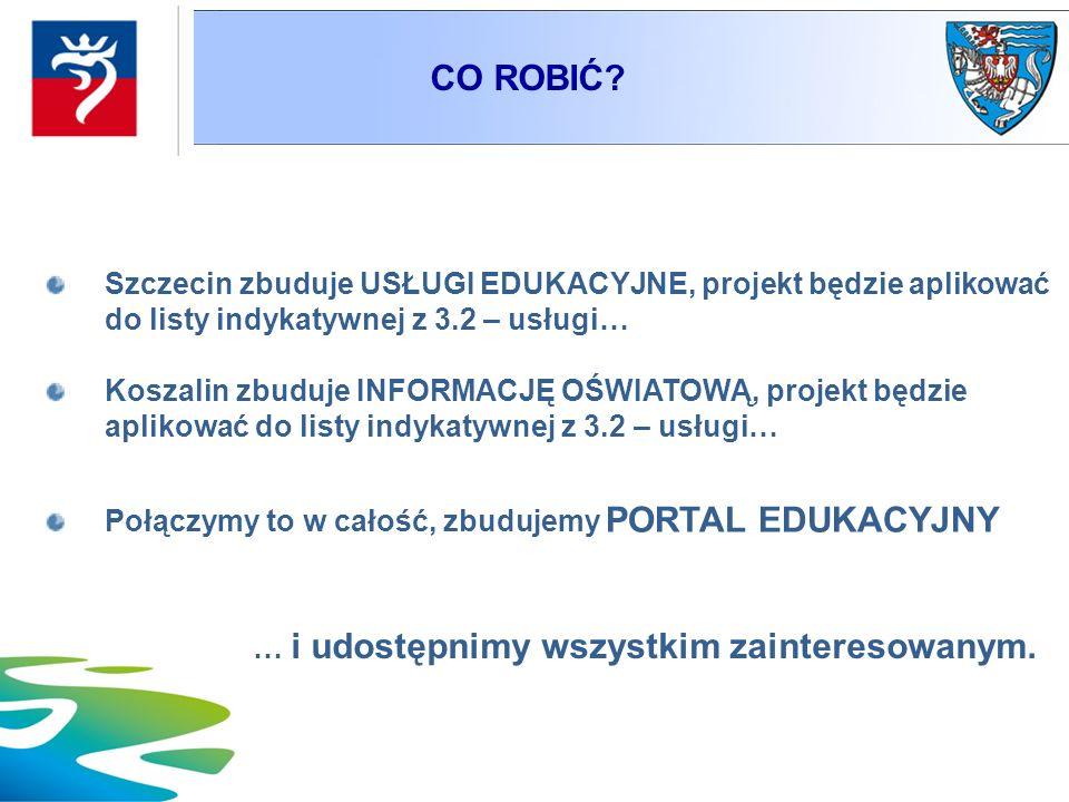CO ROBIĆ Szczecin zbuduje USŁUGI EDUKACYJNE, projekt będzie aplikować do listy indykatywnej z 3.2 – usługi…