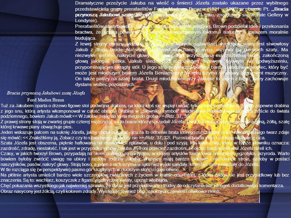Bracia przynoszą Jakubowi szatę Józefa