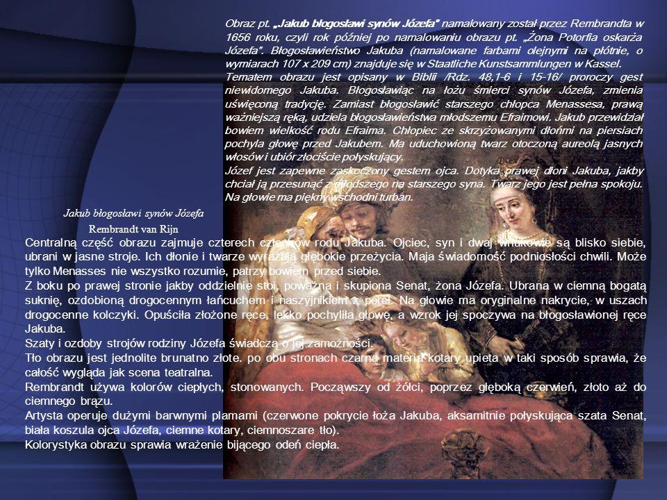 Jakub błogosławi synów Józefa