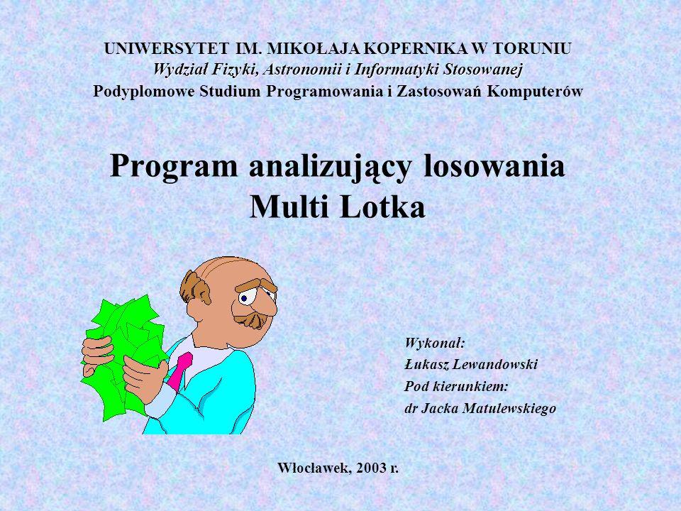 Program analizujący losowania Multi Lotka