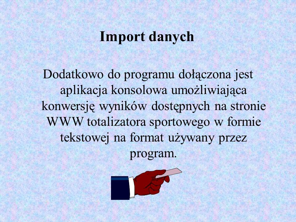 Import danych