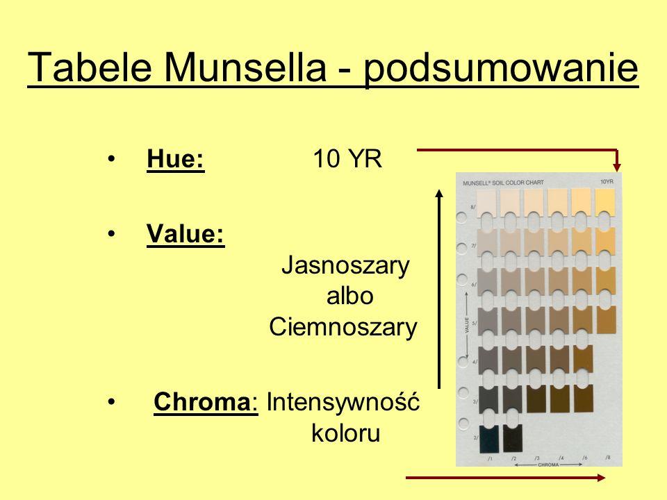 Tabele Munsella - podsumowanie