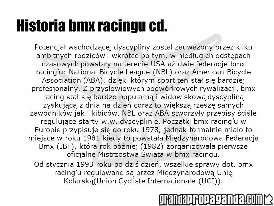 Historia bmx racingu cd.