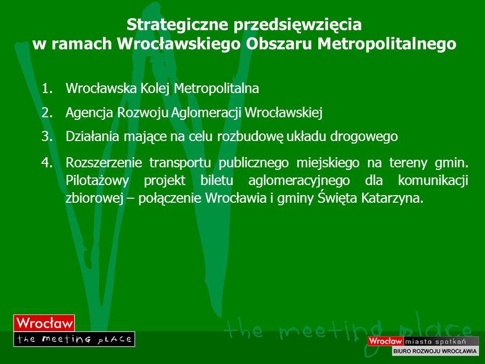 Strategiczne przedsięwzięcia w ramach Wrocławskiego Obszaru Metropolitalnego