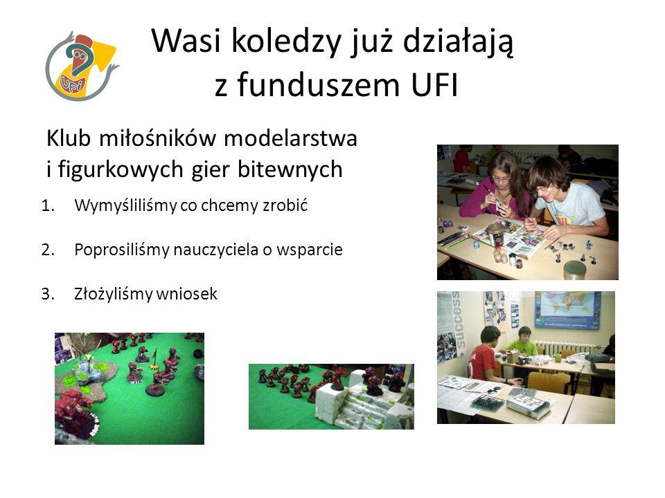 Wasi koledzy już działają z funduszem UFI
