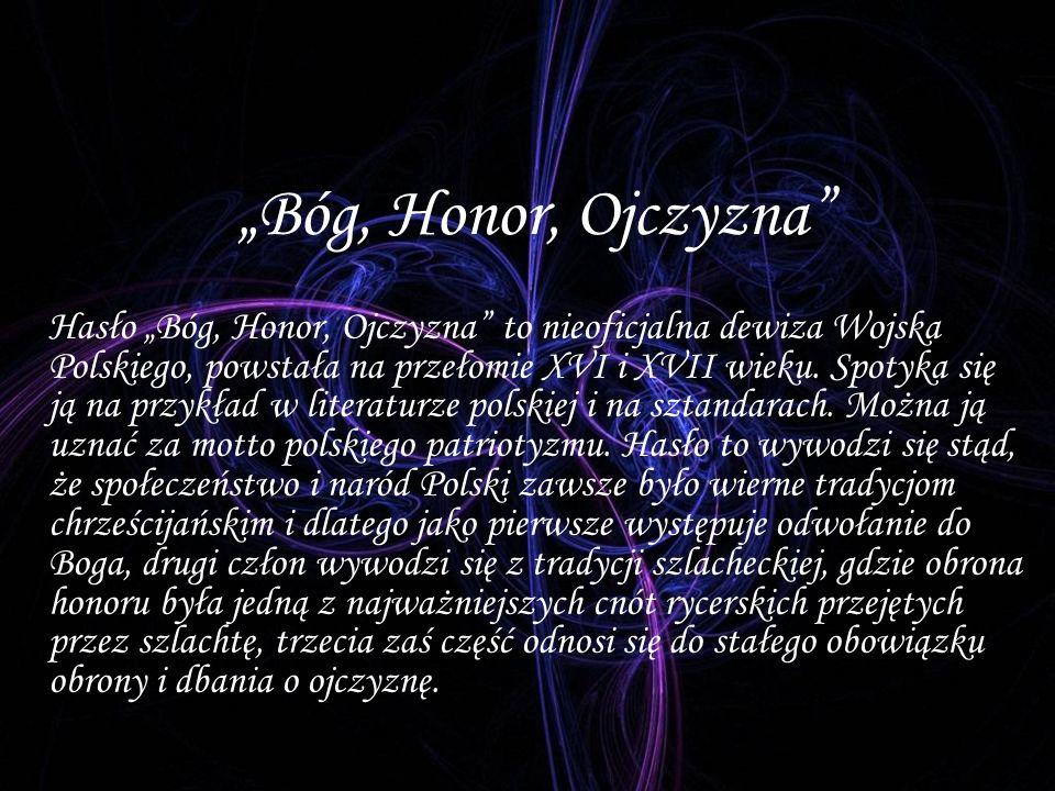 """Bóg, Honor, Ojczyzna"