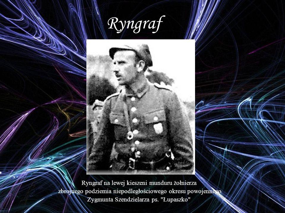 Ryngraf Ryngraf na lewej kieszeni munduru żołnierza