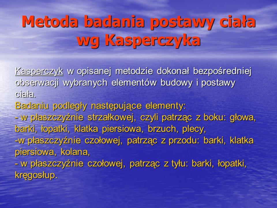 Metoda badania postawy ciała wg Kasperczyka