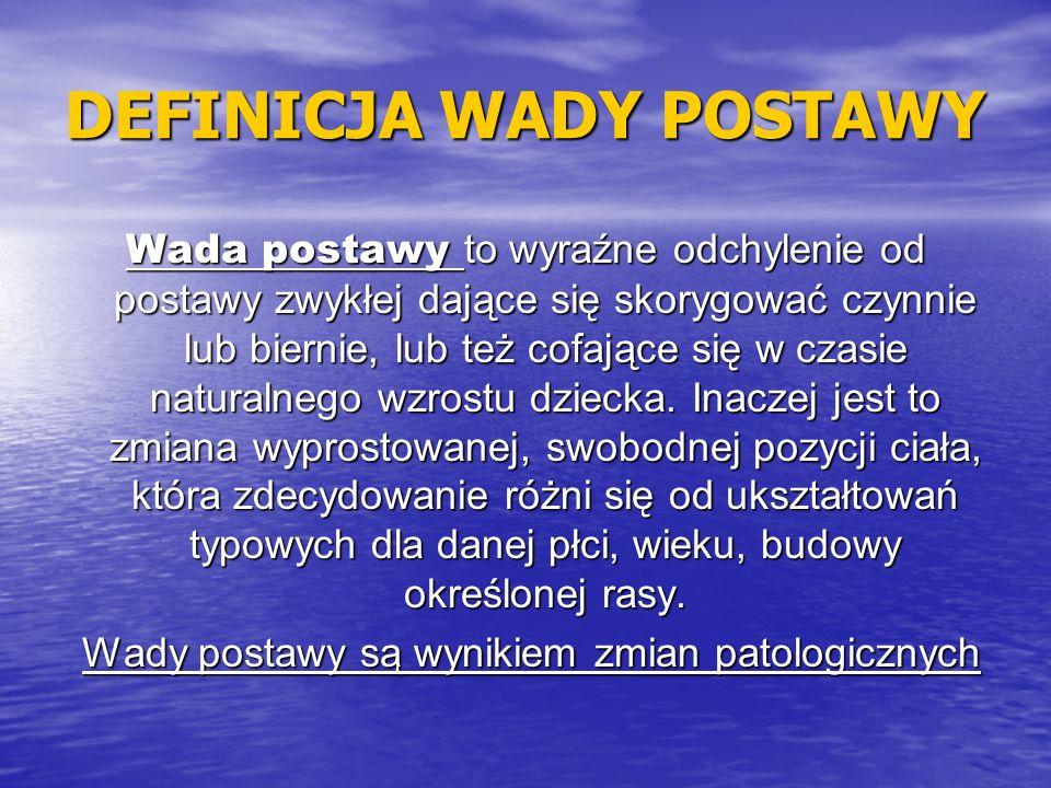 DEFINICJA WADY POSTAWY