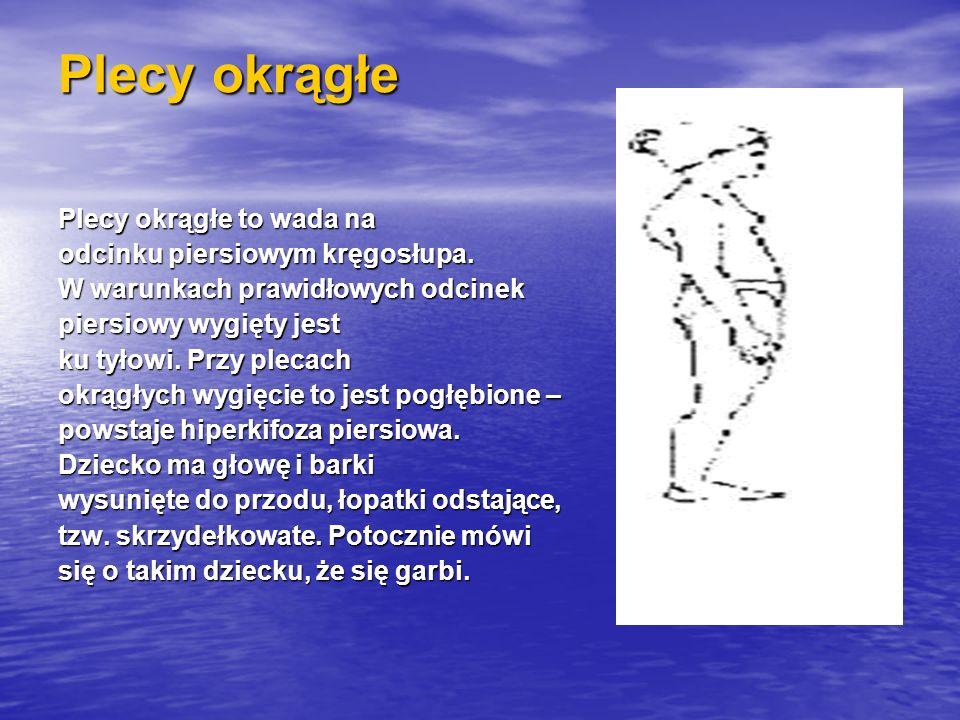 Plecy okrągłe Plecy okrągłe to wada na odcinku piersiowym kręgosłupa.