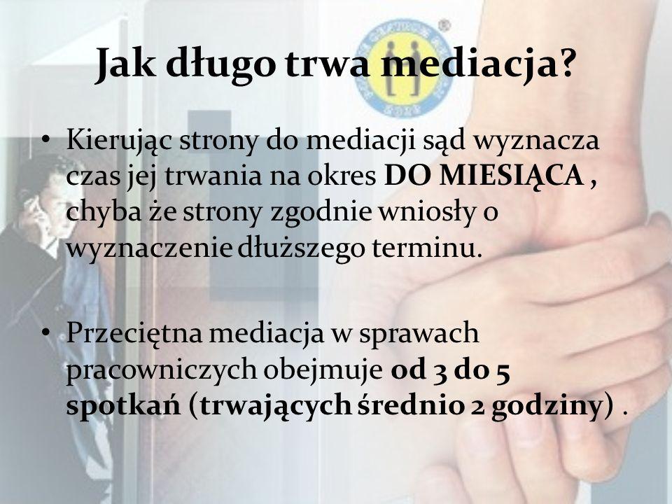 Jak długo trwa mediacja