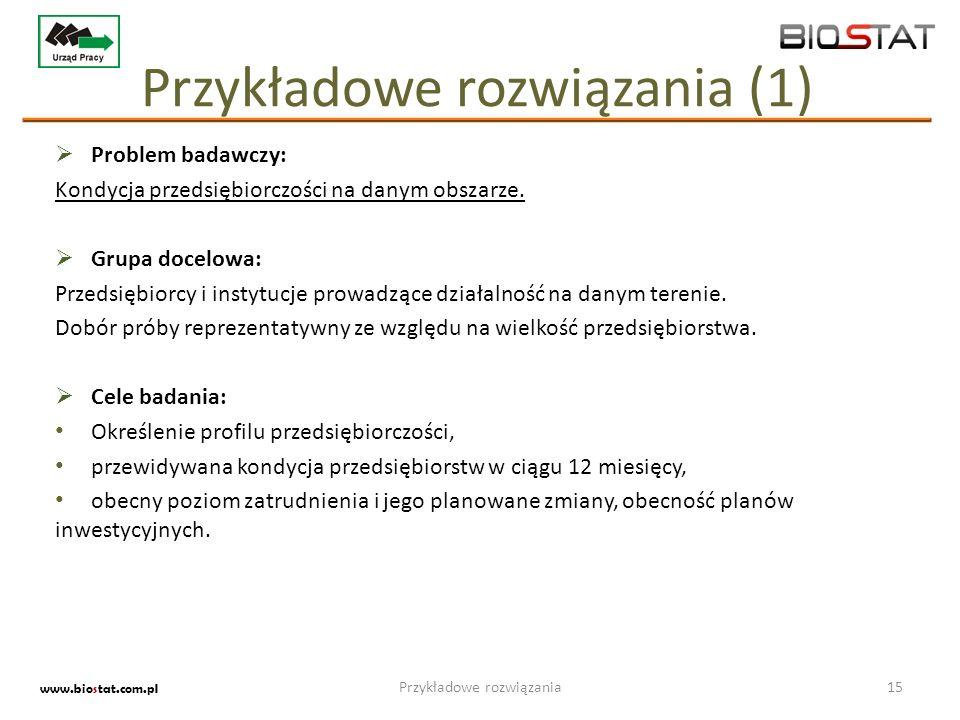 Przykładowe rozwiązania (1)