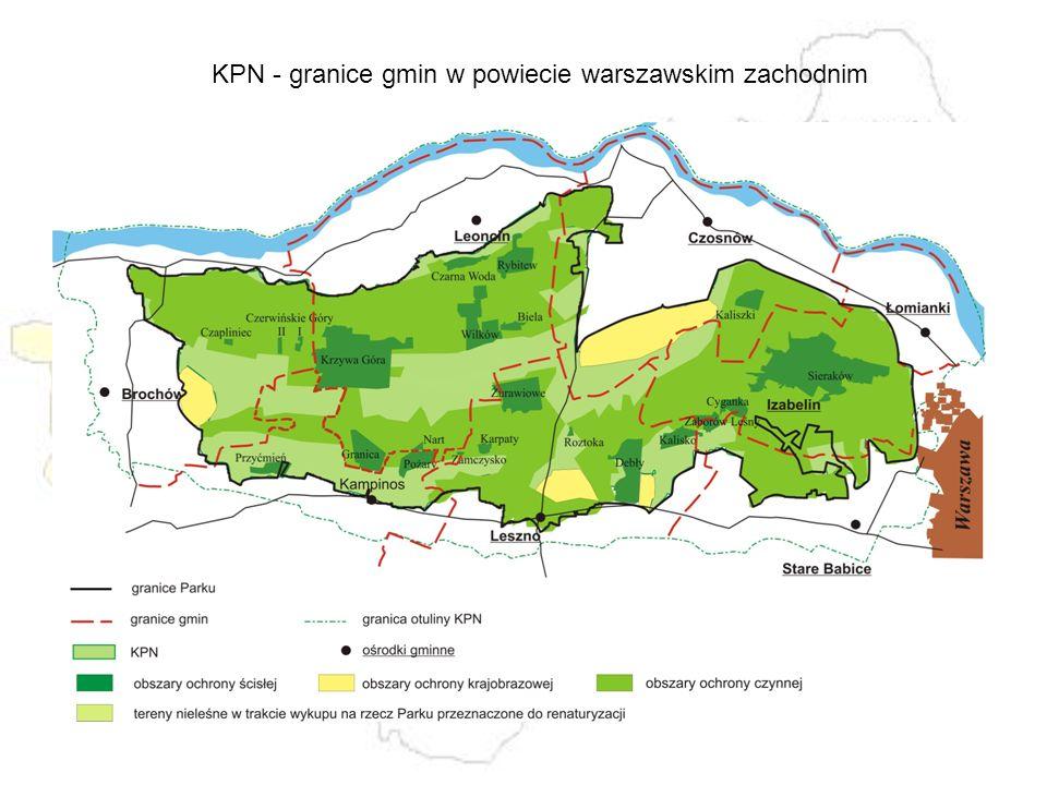 KPN - granice gmin w powiecie warszawskim zachodnim