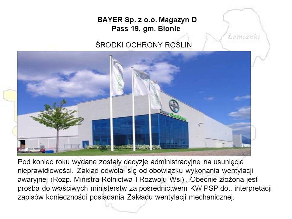 BAYER Sp. z o.o. Magazyn D Pass 19, gm. Błonie