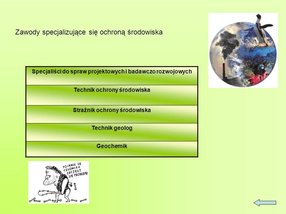 Zawody specjalizujące się ochroną środowiska