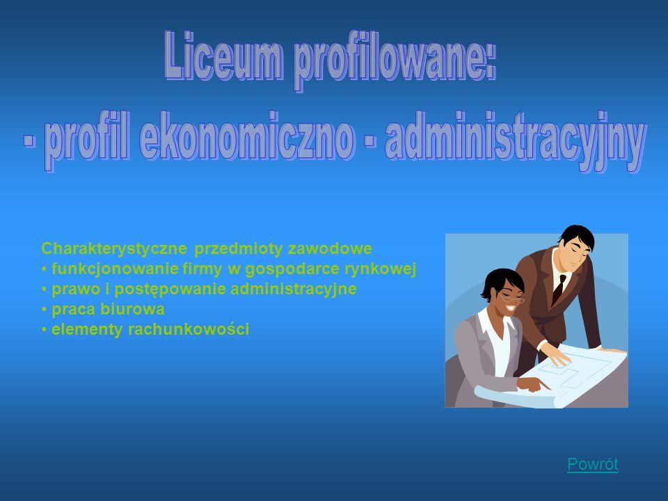 - profil ekonomiczno - administracyjny
