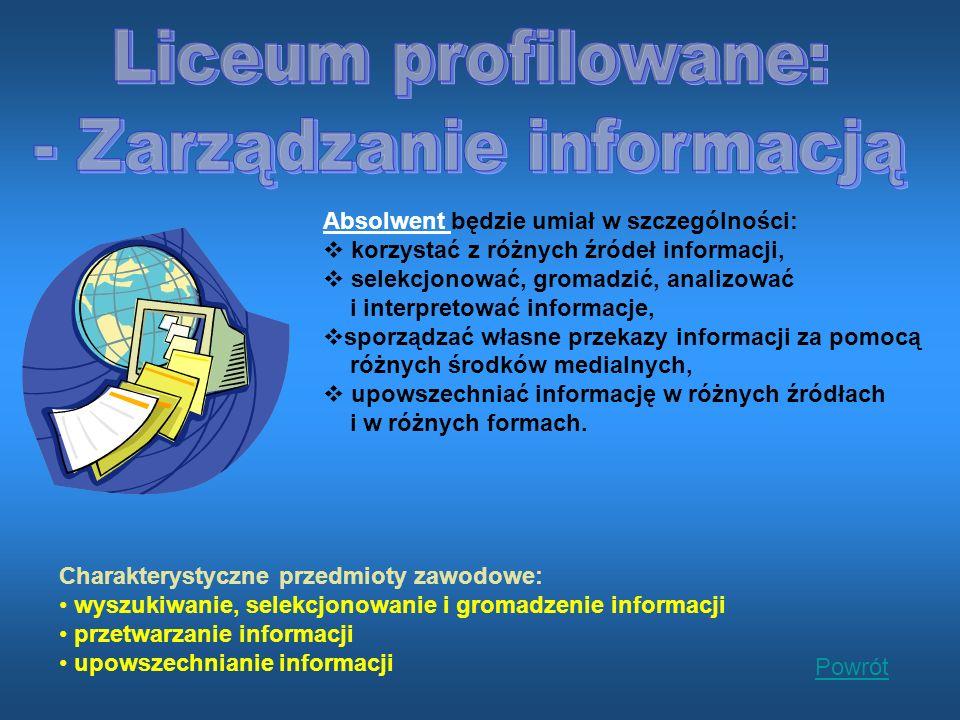 - Zarządzanie informacją