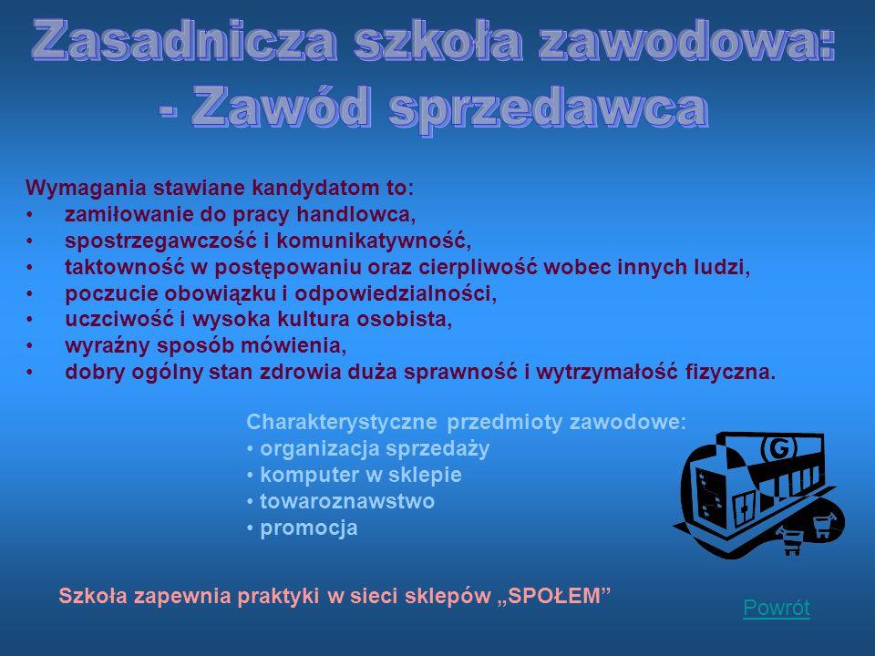 Zasadnicza szkoła zawodowa: