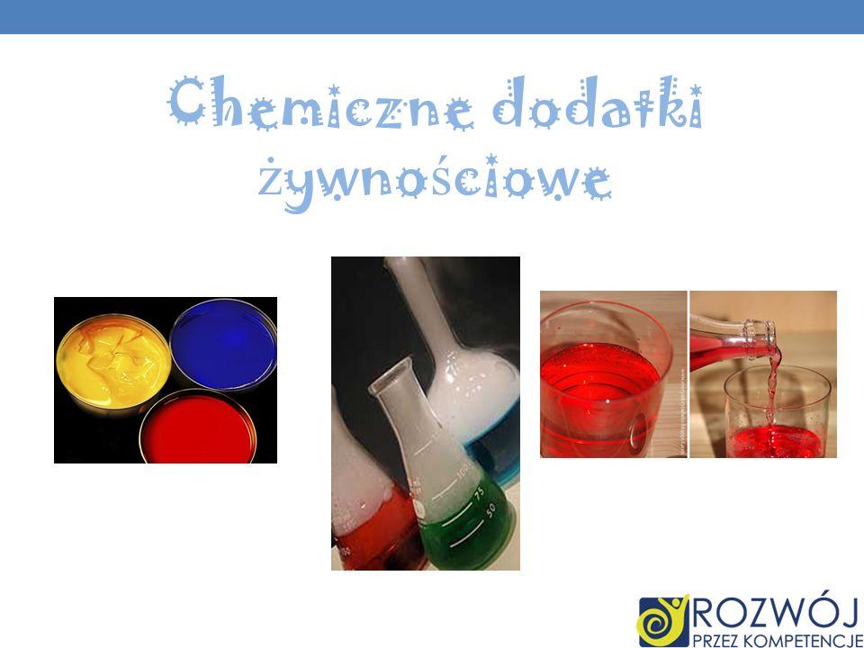 Chemiczne dodatki żywnościowe